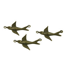 20pcs Newest Swallow Alloy Charms Connectors Vintage Bronze Pendants Findings L