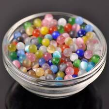 50pcs 6mm Mixed Cat's Eyes Crystal Glass Loose Spacer Beads - Imitated Gemstone
