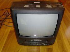 "Sansui COM312AD 13"" CRT Television AC/DC Power TV VCR Combo VHS Tape Free P/U"