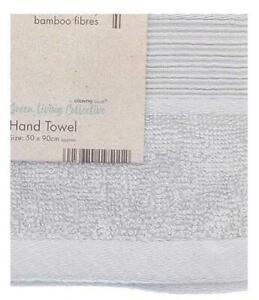Eco Friendly Bamboo Bath Hand Towel in Grey/Silver BNWT