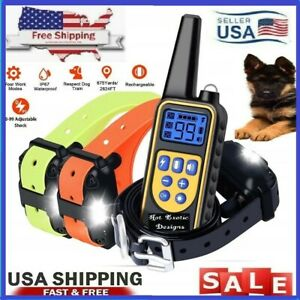 2630 FT Dog Training US Collar Rechargeable Remote Shock  PET Waterproof Trainer