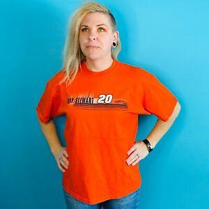 Tony Stewart #20 Home Depot NASCAR Winners Circle XL T-Shirt Orange Monte Carlo