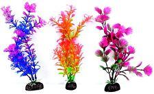 "*Aquarium Fish Tank Plant Decoration Plastic 4"" or 8"" tall plants Fresh Tropical"