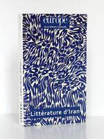 Europe Mai 2012 n° 997 Littérature d'Iran. Revue littéraire mensuelle