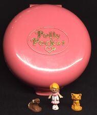 Polly Pocket Mini 💛 BARATTOLO 1989-BUTTONS 'Animal Hospital CANE GATTO 5