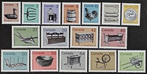 CANADA 1982-1987 #917//1083 Historical Artifacts, Complete set Mint NH