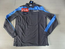 TG XL 2013 NAPOLI POLO MANGA LARGA JUGADORES PLAYER COTTON SHIRT JERSEY GRIS