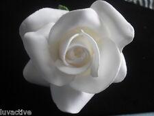 "3"" FOAM WEDDING BRIDAL ROSE FLOWER PIN UP HAIR CLIP NEW"
