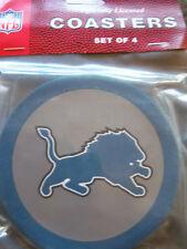1 - 4 Pack Vinyl Drink Coasters - Detroit Lions