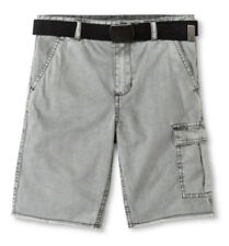 Mossimo Supply Co. Boy's Gray Cargo Shorts with Black Belt, Size 6 NWT