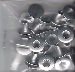 One Dozen Capital Metal Replacement Screws & Posts  for Holders