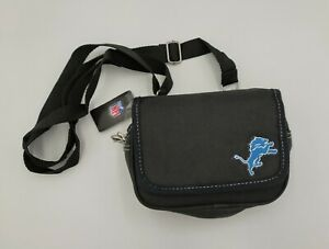 NFL Detroit Lions Black  Crossbody Purse by Little Earth Productions ~ NWT