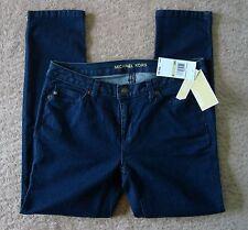 NWT Michael Kors Dark Wash Denim Capri Jeans Stretch Skinny Leg Pants 4 $99.50