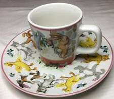 "Tiffany & Co Collectors 1992 Mug and Plate ""Tiffany Playground"""