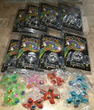 16 Led Mouthpieces & Led Fidget Spinner Rings (Kids Party Favors & Accessories)