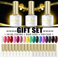 BORN PRETTY 20Stk. Nagel Gellack Kit Top Coat Base Coat UV Gel Soak Off Nail Art