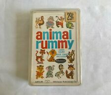 Vintage Children's Animal Rummy Card Game