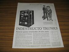 1921 Vintage Ad Indestructo Trunks for Travel Mishawaka,IN Happy Couple