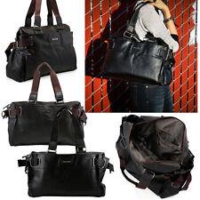 Fashion Women Satchel Crossbody Shoulder Bag PU Leather Tote Handbag Purse Black