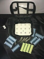 Conair Electric Travel Hot 12 Rollers Curlers * in Case  CLEAN.  EXCELLENT