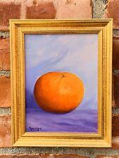 Hudson Valley New York Artist Dominique Rickard Signed Still Life Tangerine 1999