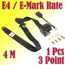 1 X Universal 3 Point Seat Belt. Super Extra Long Approx.4 M Webbing E-Mark Rate
