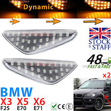 2x Sequential Dynamic Indicator Side Markers LED BMW E70 X5 E71 X6 F25 X3 UK SMD