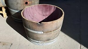 used half wine barrel planter, great value, LOWEST PRICE ON EBAY!