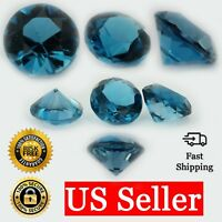 Loose Round Cut Genuine Blue Zircon Stone Single December Birthstone Shape