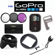 GOPRO HERO5 BLACK HERO4 BLACK 3 HD FILTER KIT + REMOTE + ADAPTOR + LENS HOOD