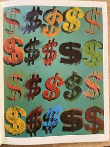 Andy Warhol, Dollar Signs & Micky Mouse 1981 Mini Poster Pop Art 28x21cm 95