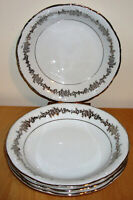 """Set of 4 Corsage by Belcrest 8"""" Coupe Soup Bowl, Fine Bavarian China of Germany"""