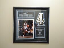 Antawn Jamison #4 Wizards Etched Glass Framed Picture & Jersey # Highland Mint