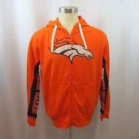 NFL Denver Broncos Sweatshirts Men's Hoodie Medium Large Orange