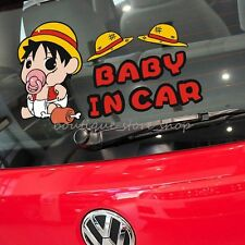 One Piece Luffy Baby in car cartoon warning Rear window car stickers wall decals