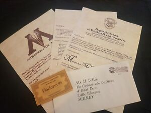 Harry Potter - Hogwarts Acceptance Letter - Handmade and personalised