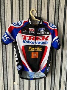 Trek Volkswagen Shimano Men's Cycling Shirt Short Sleeve Jersey size S Rare