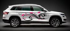 TRIBAL CUTE GIRL SWIRLS CIRCLES COLOR VINYL DECAL GRAPHIC SIDE CAR TRUCK