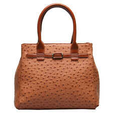 Designer Ostrich Embossed Faux Leather Celebrity Tote Satchel Lady Shoulder Bags