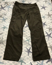 Women Mountain Hardware Nylon Dark Olive Green Lightweight Outdoor Pant Size 12
