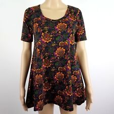 LuLaRoe Perfect T XXSmall Tunic Floral Short Sleeve Casual Workout NWT