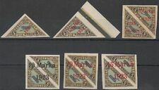 Estonia 1923 Mi 41-42 (a plus b); 43-45 MLH OG