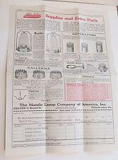 1922 Aladdin Mantle Lamp Co. Advertising Flyer & Order Envelope