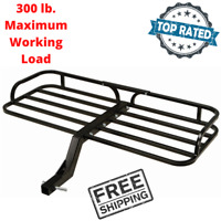 ATV Cargo Carrier 300 lb. Capacity Hitch Mount Heavy Duty Steel Square Tube New