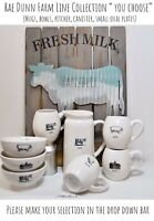 "Rae Dunn Farm Line Mug Bowl Pitcher Cow Pig Chicken Barn ""YOU CHOOSE"" NEW '19"