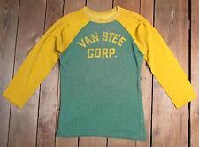 VINTAGE 1940s VAN ACERO corp. rayón Deportivo punto camisa jersey M Fútbol /