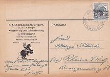 Germany 1948 F&O Brockmann Postcard Furstenfeldbruck CDS used VGC