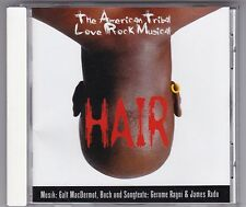 HAIR THE AMERICAN TRIBAL LOVE ROCK MUSICAL CD CAST ALBUM MAC DERMOT NEAR MINT!