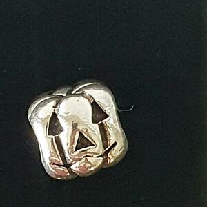 Pandora Halloween Pumpkin Jack-O Lantern Silver Charm 790393 Free Postage