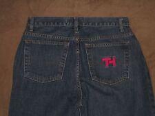 Tommy Hilfiger Size 6 Tapered Leg Dark Blue Denim 100% Cotton Womens Jeans